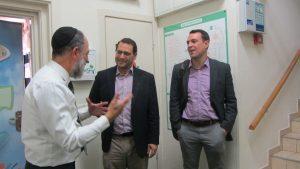 Rafi Rone and Jonathan Hornstein, Weinberg Foundation Representatives